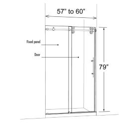 Frameless Gl Shower Doors W Chrome Or Nickel Sliding Hardware