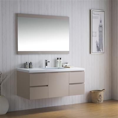 Vanity Adams 49 Inch Modern Infinity Sink Bathroom Counter