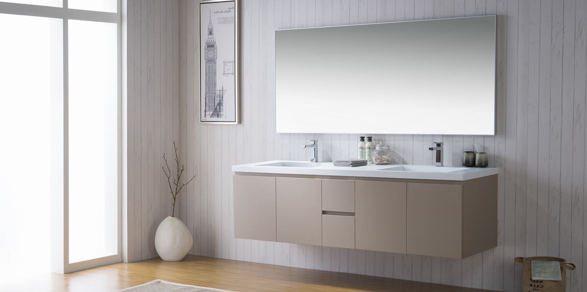 Modern Bathroom Vanities Cabinets Faucets Bathroom Place Miami - Factory outlet bathroom vanities
