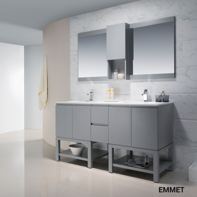modern bathroom vanities, cabinets & faucets | bathroom place miami